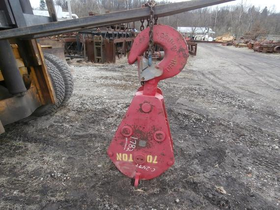 Johnson 70 Ton 4 Sheave Hook Block